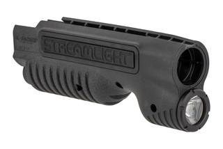 The Streamlight TL Racker Mossberg 500 forend features an integrated 850 Lumen weapon light