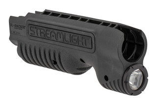 The Streamlight TL Racker forend for Remington 870 features an integrated weapon light