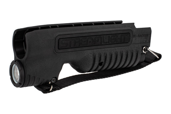 Streamlight TL Racker for Mossberg 590 Shockwave features ambidextrous controls.