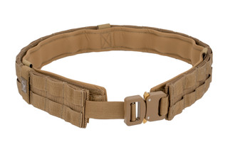 The Grey Ghost Gear UGF Battle Belt medium in coyote brown features a padded inner lining