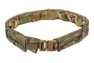 The Grey Ghost Gear UGF Battle Belt Medium MultiCam features loop attachments and a Cobra buckle