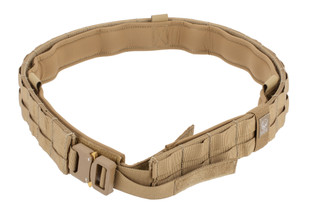 The Grey Ghost Gear UGF padded battle belt large coyote brown features a Cobra buckle