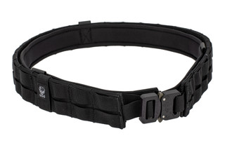 The Grey Ghost Gear UGF Battle Belt large is made from black Cordura with a Cobra buckle
