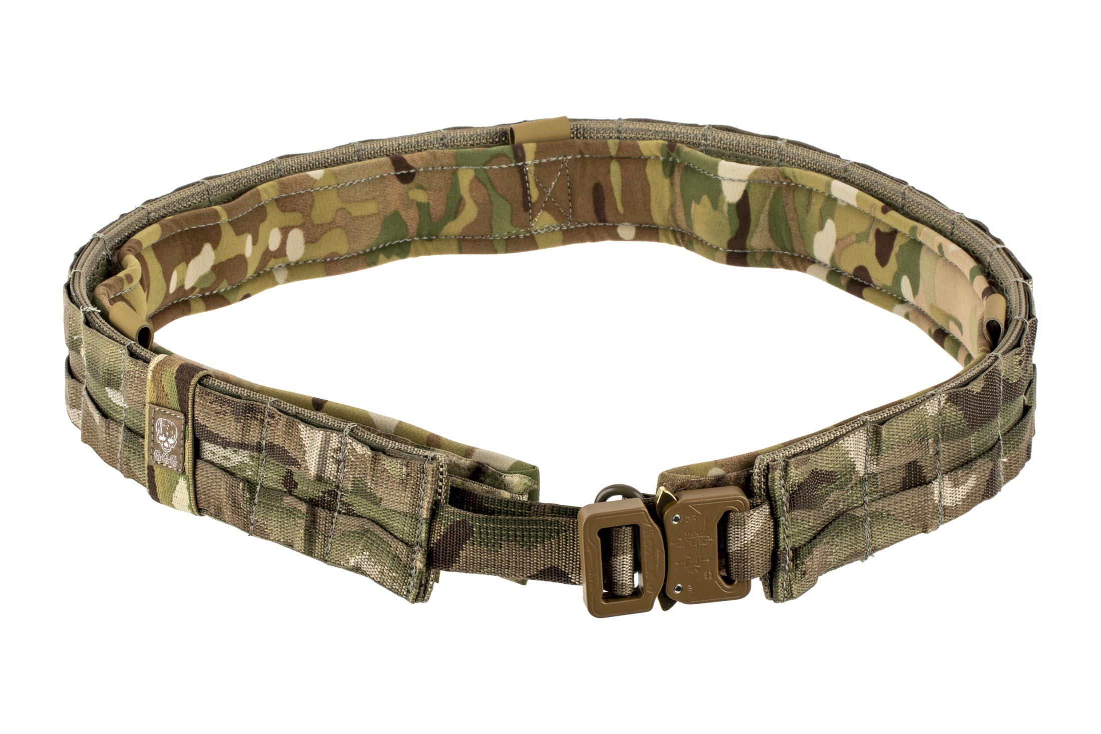 The Grey Ghost Gear UGF Large Battle belt features a Multicam color and Cobra buckle
