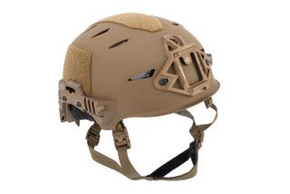 Team Wendy EXFIL Carbon Bump Helmet Rail 3.0 XL in Coyote Brown features a carbon fiber shell
