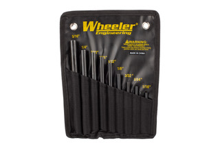 Wheeler AR-15 Roll Pin Starter Set punches feature steel construction designed to help prevent bending or breaking