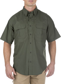 5.11 Tactical TACLITE Pro Short Sleeve Shirt in TDU green, front view