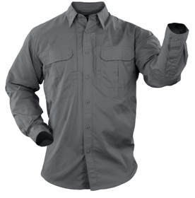 5.11 Tactical TACLITE Pro Long Sleeve Shirt in storm, front view