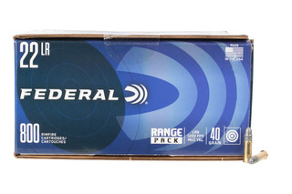 Federal 22lr rimfire ammunition comes in a case of 800 rounds