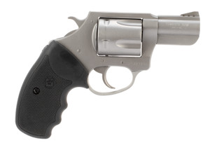 Charter Arms Pug 357 magnum revolver features a 2.2 inch barrel
