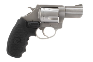 Charter Arms Mag Pug 357 magnum revolver features crimson trace grips