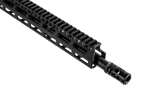 BCM RECCE-16 5.56 NATO complete rifle with 16in barrel is threaded 1/2x28 with a MOD 0 compensator