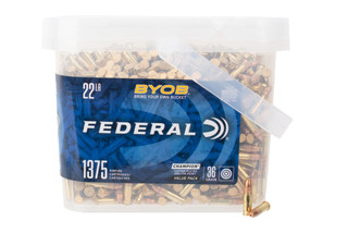 Federal BYOB 22lr rimfire ammo features a 36gr copper plated hollow point bullet