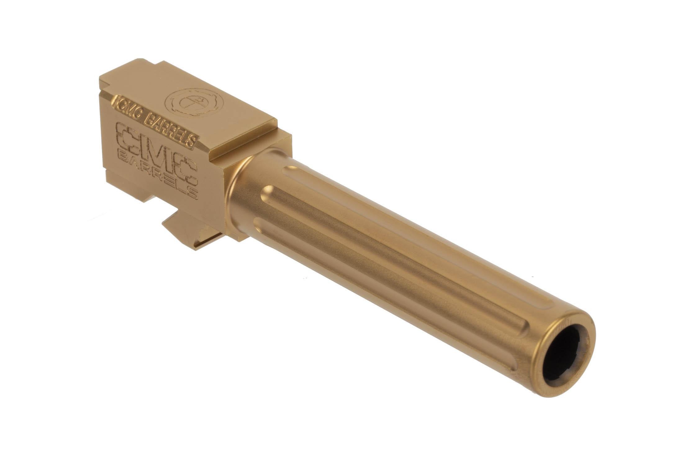 CMC Triggers Glock 19 Fluted 9mm barrel with Bronze TiCN finish