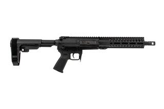 The CMMG Banshee 200 series Mk47 AR pistol features a 10 inch barrel and a RipBrace