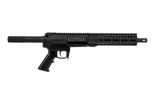 The CMMG Banshee 100 Series Mk47 AR pistol is chambered in 7.62x39mm ammunition