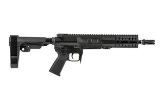 The CMMG Banshee 300 Series Mk47 AR pistol is chambered in 7.62x39 and uses AK47 magazines