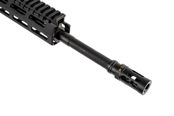 BCM RECCE-14.5 5.56 NATO complete lightweight rifle with 14.5in barrel is threaded 1/2x28 with a MOD 1 compensator