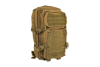 The Red Rock Outdoor Gear Assault Pack Comes in Coyote Brown and features Nylon construction