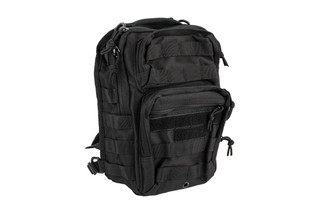The Red Rock Outdoor Gear Rover Sling Pack features black Nylon construction for long lasting durability