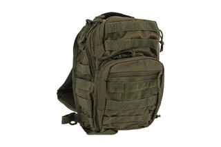 The Red Rock Outdoor Gear Rover Sling Pack is made from Olive Drab Green Nylon