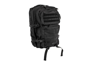 The Red Rock Outdoor Gear Large Assault Pack is made from durable black Nylon