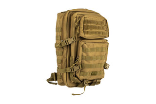 The Red Rock Outdoor Gear Large Assault Pack is made from durable coyote brown Nylon material