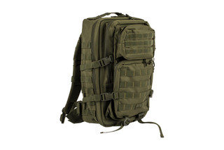 The Red Rock Outdoor Gear Assault Pack is made from durable OD Green Nylon
