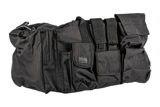 The Red Rock Outdoor Gear Operations Duffle Bag is made from durable black Nylon