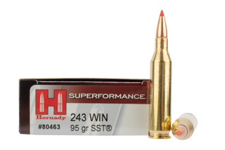 Hornady Superformance 243 Win 95gr SST Ammo comes in a box of 20 rounds