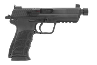 Heckler & Koch HK45T pistol features a threaded barrel