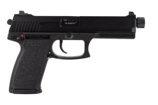 HK Mark 23 45 ACP pistol features a match grade threaded barrel