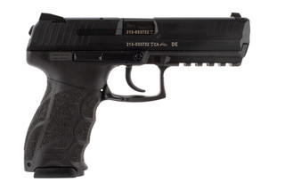 HK P30L V1 LEM 9mm pistol features a long slide and barrel