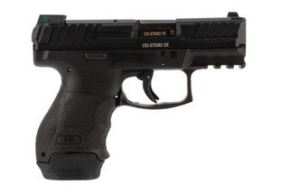 H&K VP9SK 9mm Pistol features a black polymer frame