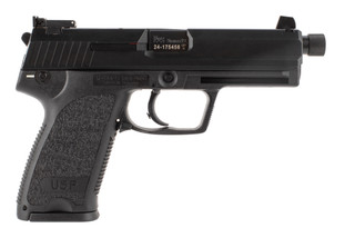 Heckler and Koch USP 9 tactical pistol features a 4.86 inch match grade threaded barrel