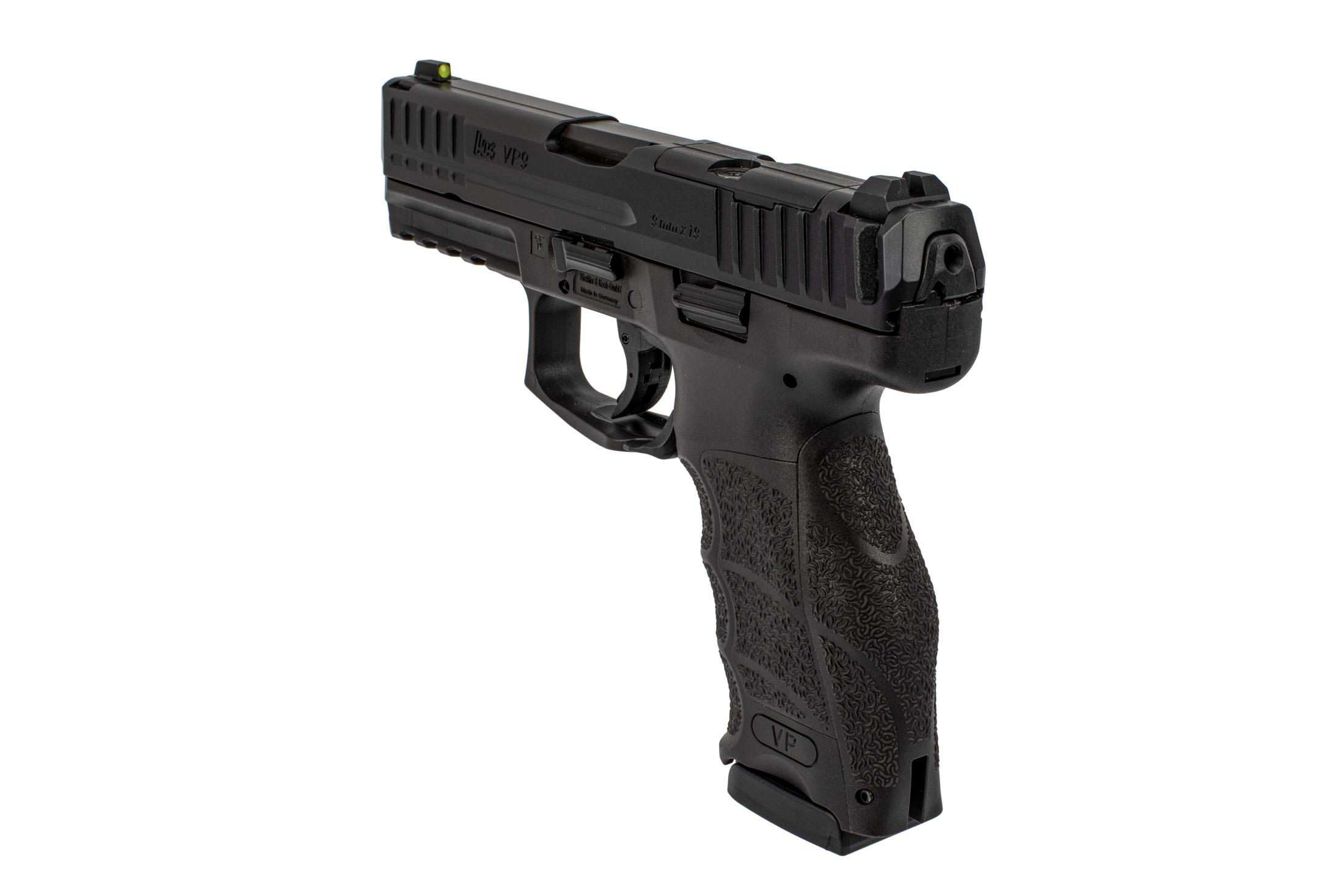 H&K VP9 optics ready 9mm handgun comes with interchangeable back straps