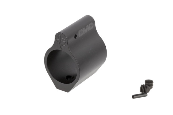 CMC Triggers .750 in low profile gas block is compatible with both AR-15s and AR-308s, and features an engraved Texas logo on the front