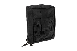 The Red Rock Outdoor Gear Black Nylon Large Medical Bag is compatible with MOLLE webbing