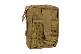 The Red Rock Outdoor Gear Large Medical pouch is MOLLE compatible and comes in Coyote Brown