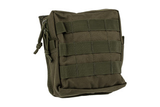 The Red Rock Outdoor Gear Medium MOLLE Utility Pouch features an OD green Nylon material