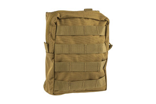 The Red Rock Outdoor Gear Coyote Brown Large Utility Pouch features MOLLE compatibility