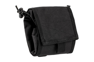 The Red Rock Outdoor Gear Black Folding Ammo Dump Pouch is compatible with MOLLE webbing