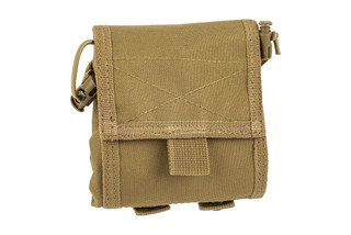The Red Rock Outdoor Gear Folding Ammo Dump Pouch in Coyote Brown is compatible with MOLLE webbing