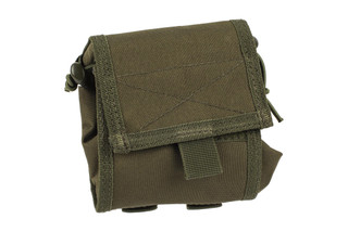 The Red Rock Outdoor Gear MOLLE folding ammo dump pouch is made from durable olive drab green nylon