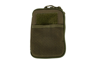 The Red Rock Outdoor Gear Pocket Pal Wallet in OD Green is compatible with MOLLE webbing