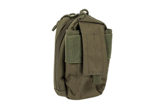 The Red Rock Outdoor Gear MOLLE Media Pouch in OD green is designed for phones, GPS, or other devices