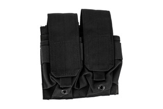 The Red Rock Outdoor Gear MOLLE Double Rifle Magazine Pouch is made from durable black Nylon