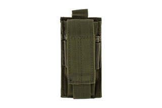 The Red Rock Outdoor Gear Single Pistol Magazine Pouch comes in Olive Drab Green Nylon