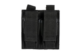 The Red Rock Outdoor Gear Double Pistol Magazine Pouch is made from black Nylon