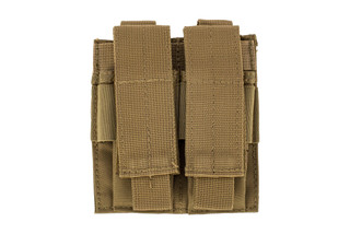 The Red Rock Gear Double Pistol Magazine Pouch comes in Coyote Brown Nylon